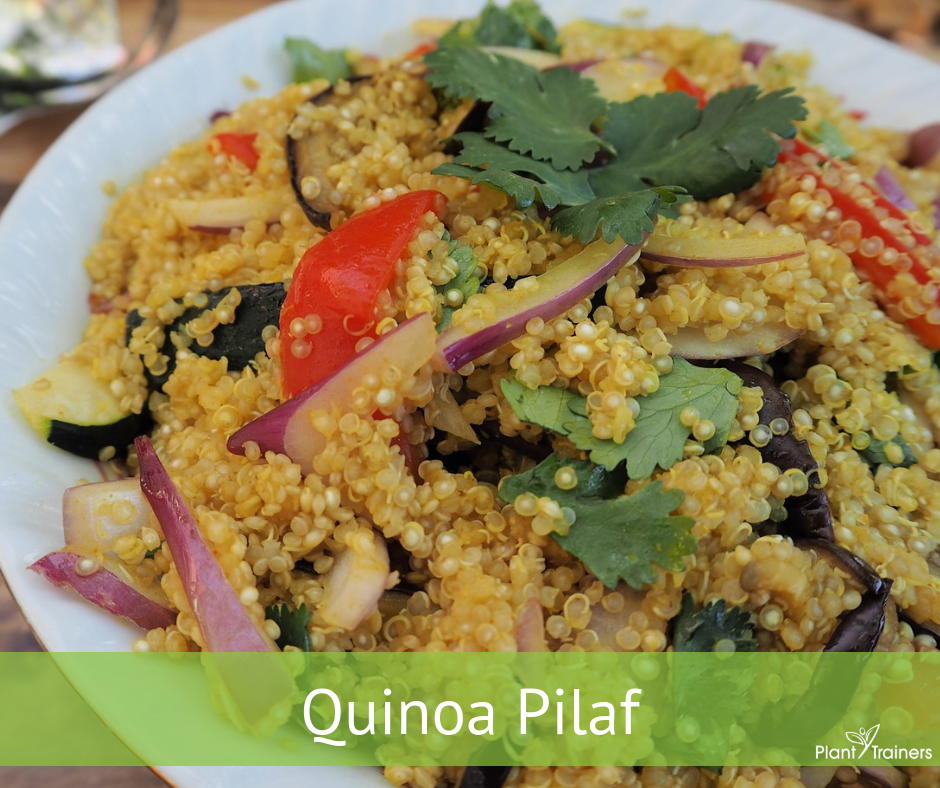 Quinoa Pilaf with a Taste of Sunshine