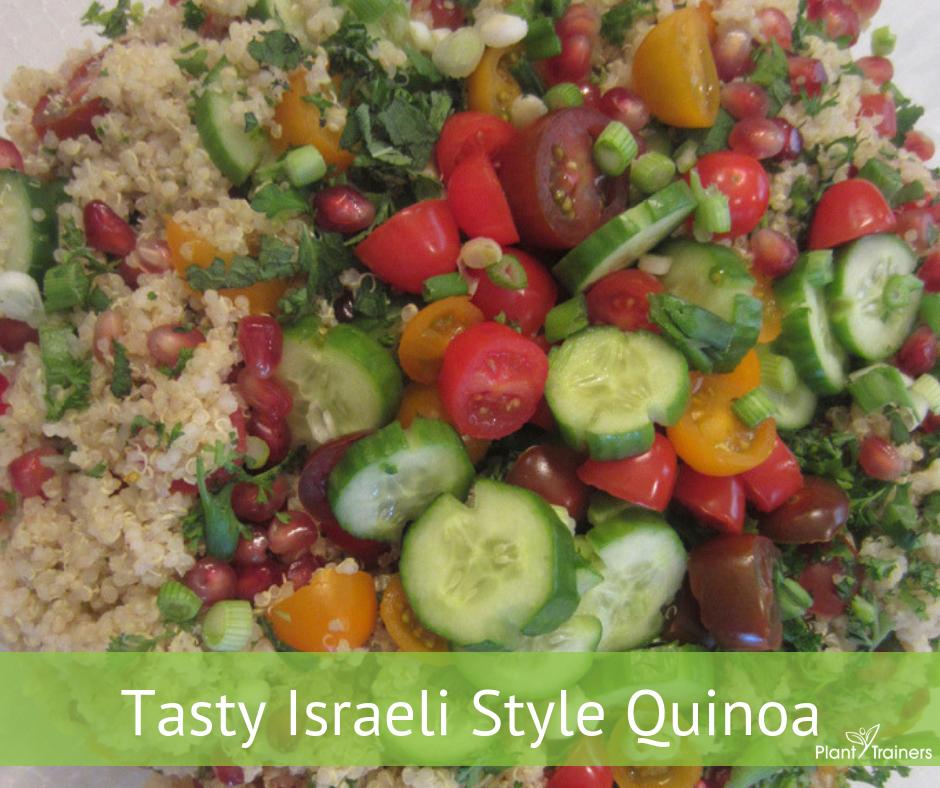 Tasty Israeli Style Quinoa & Tahini Dressing