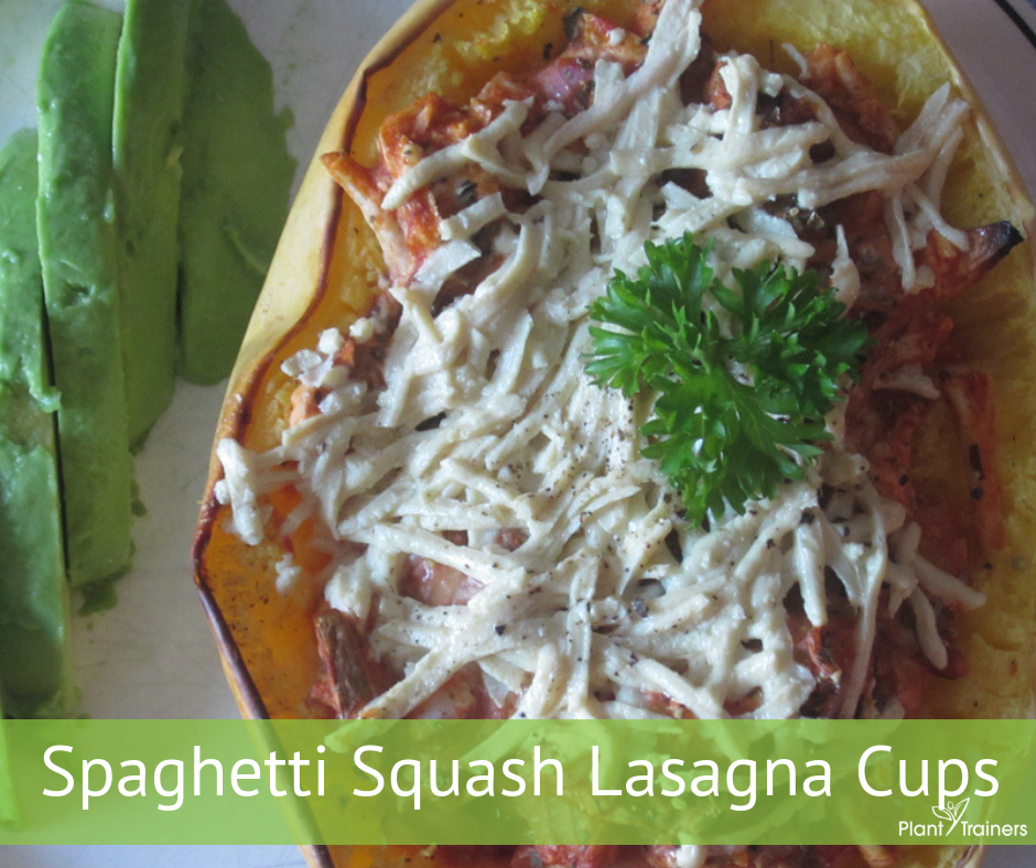 Spaghetti Squash Lasagna Cups