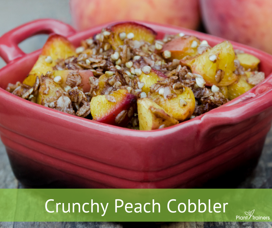 Crunchy Peach Cobbler (in a bowl)