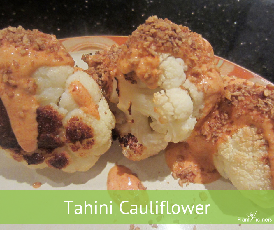 Roasted Cauliflower With Tahini Dressing