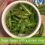 Sugar Snaps With A Ginger Kick